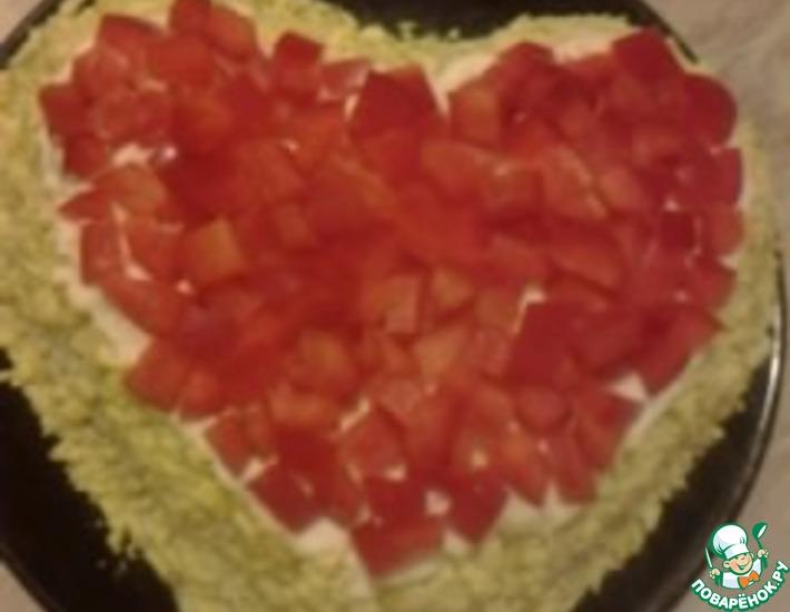 Рецепт: Салат Валентинка