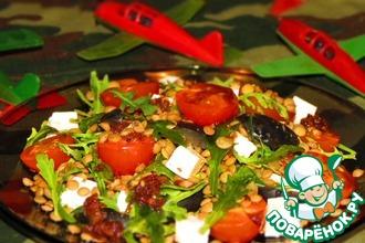 Рецепт: Салат из чечевицы и рукколы Подкрепление