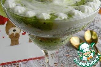 Рецепт: Десерт Ромовая баба с киви