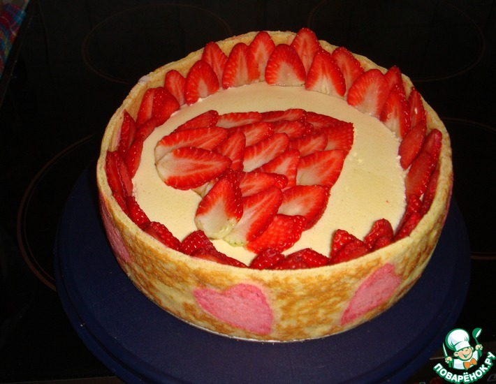 Рецепт: Торт ко Дню Святого Валентина