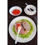 Домашняя паровая колбаса и лепёшки-гриль