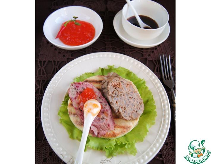 Рецепт: Домашняя паровая колбаса и лепёшки-гриль