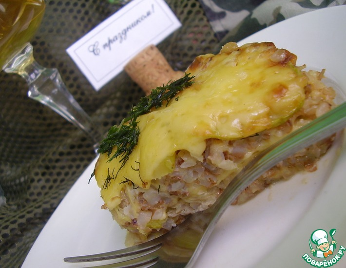 Рецепт: Запеканка гречневая с кабачком и сыром