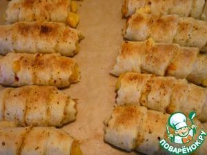 Завитушки с крабовыми палочками и сыром – кулинарный рецепт