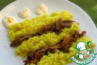 Рецепт: Золотой рис с апельсиновой уткой В награду!