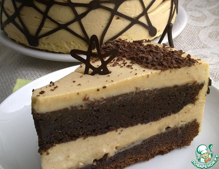 Рецепт: Карамельно-шоколадный торт