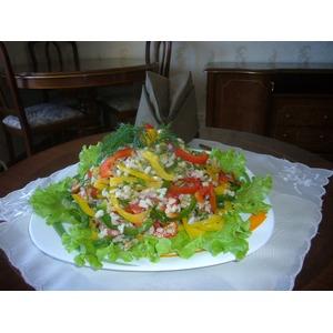 Салат рисовый с перцем