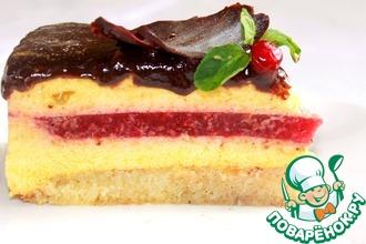 Рецепт: Семолиново-малиновый торт Манго-манго