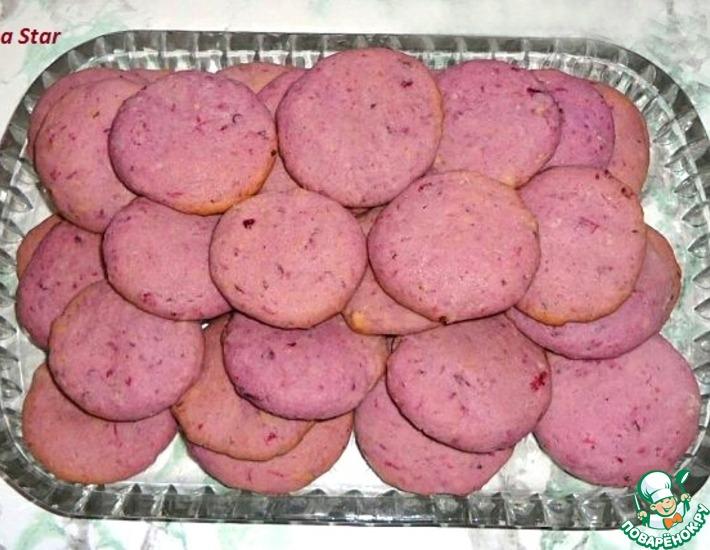 Рецепт: Розовое печенье