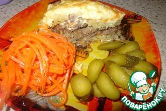Рецепт: Картофельная запеканка с фаршем и грибной икрой