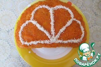 Рецепт: Куриный салат Апельсин
