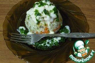 Рецепт: Ризотто с грибами и курицей в сметанном соусе