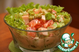 Рецепт: Кубинский салат с грейпфрутом и ветчиной