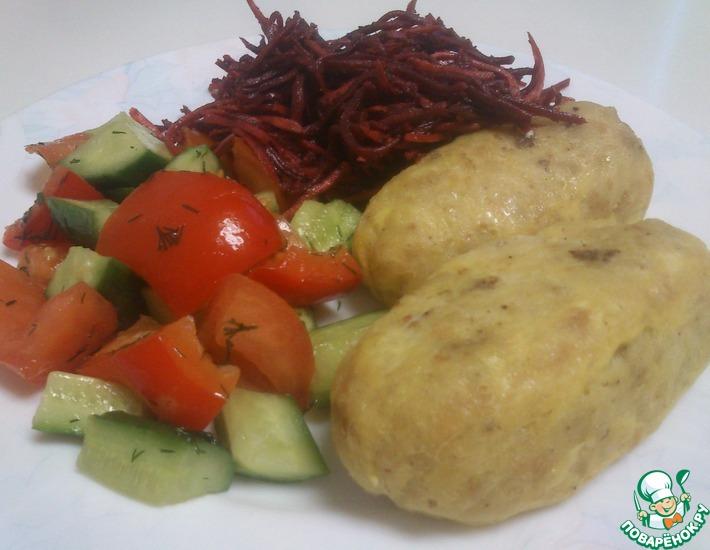 Рецепт: Рыбные колбаски на пару