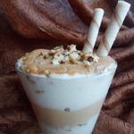 Карамельно-ванильный десерт на манной крупе