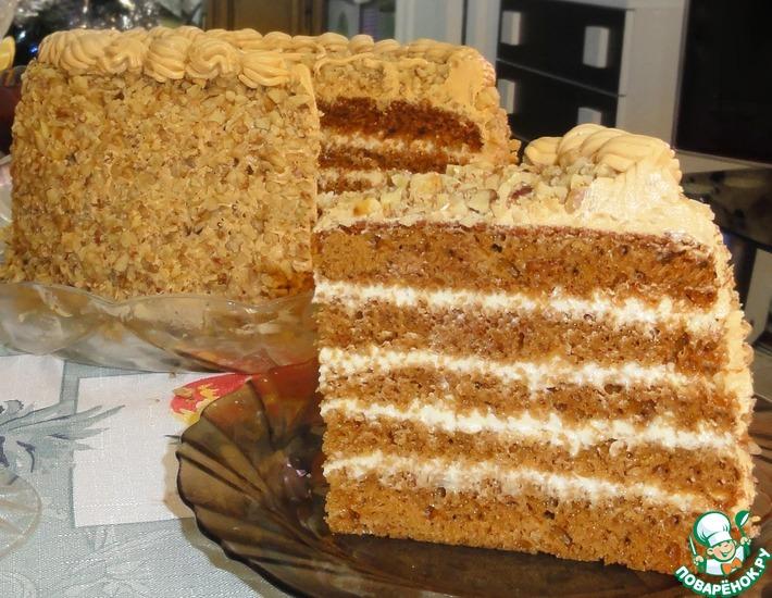 Рецепт: Медовый торт в мультиварке
