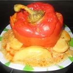 Болгарский перец, фаршированный мясом с гречкой