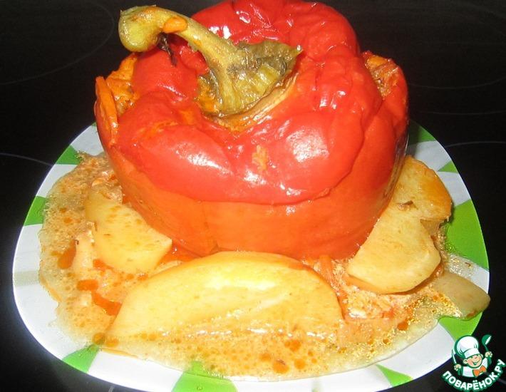 Рецепт: Болгарский перец, фаршированный мясом с гречкой