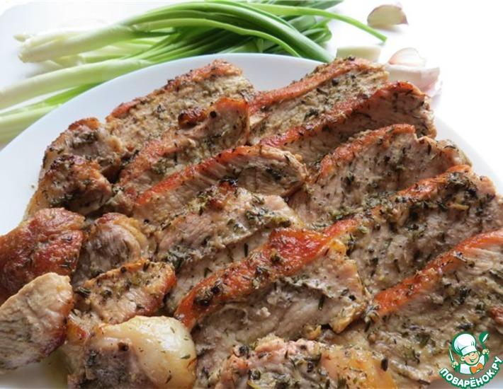 Рецепт: Запеченная свинина по-быстрому «Лимонно-тимьянная»