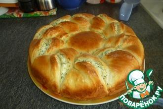 Рецепт: Пирог с творогом Нежность