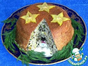 А так выглядит блюдо в разрезе. Мой любимый рис сделал пилав восхитительно аппетитным.