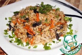 Рецепт: Перловка с грибами Русский плов