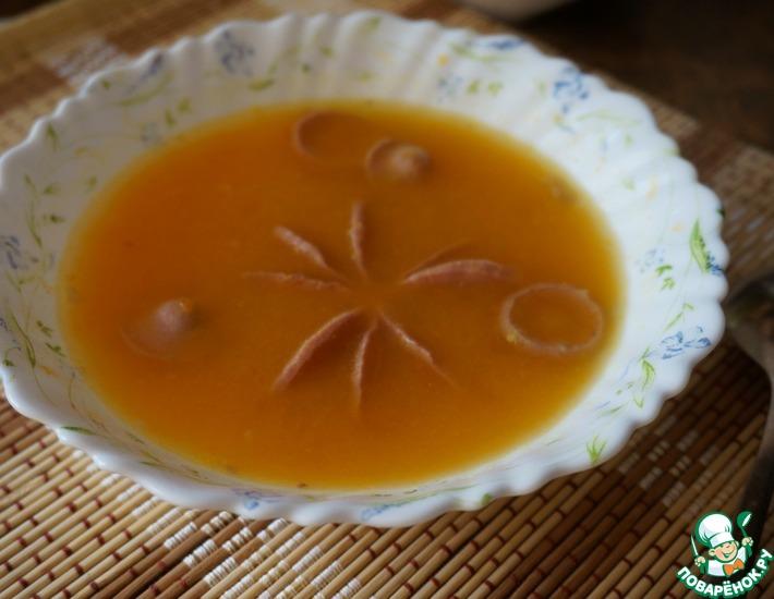 Рецепт: Тыквенный суп с сосисками