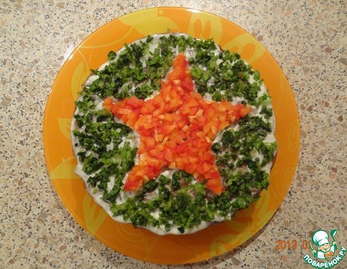 Рецепт: Печень по-генеральски