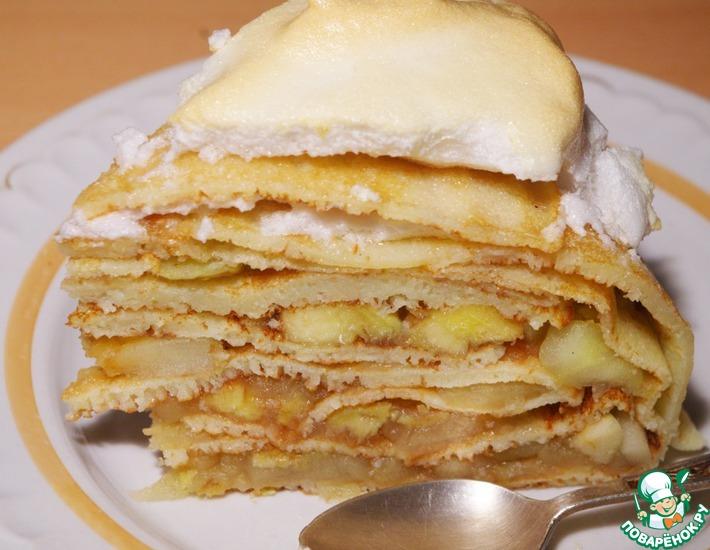 Рецепт: Блинный пирог Осенний призыв