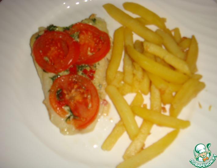 Рецепт: Филе дори, запеченное с помидорами
