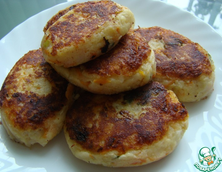 Рецепт: Котлеты из картофеля и риса