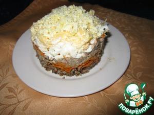 Рецепт Гречневый салат с сайрой
