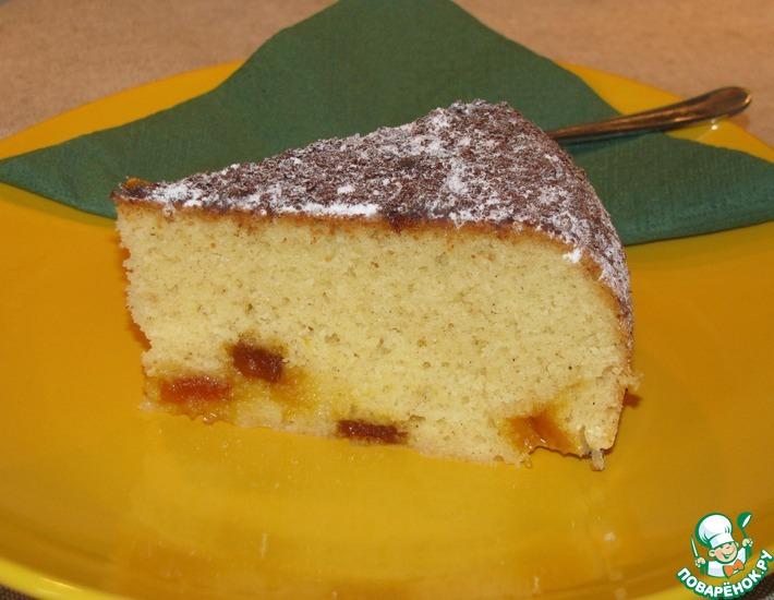 Рецепт: Манный кекс с мармеладом