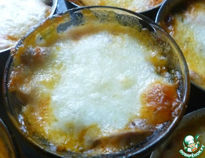 Рецепт: Овощной жульен с сыром Сулугуни