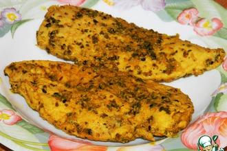 """Рецепт: Курица в маринаде """"По-ндийски"""", запечeнная в фольге. Плюс видео"""