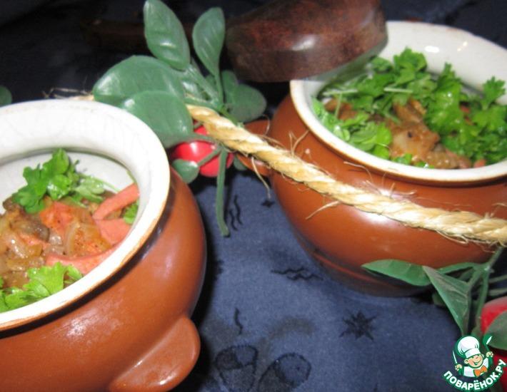 Рецепт: Гречка с грибами и ветчиной