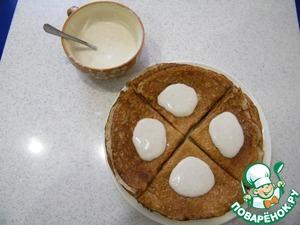Рецепт Гречишные блины со сметанно-банановым кремом