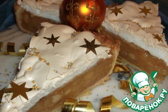 Рецепт: Пирог-торт Яблоки под снегом