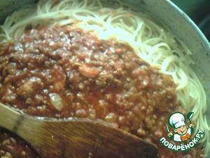 Спагетти по-домашнему – кулинарный рецепт