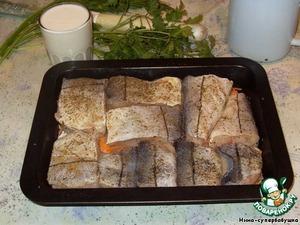 """Запеченная рыба """"Рыбка-кефирка"""" – кулинарный рецепт"""