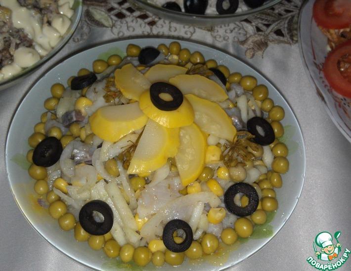 Рецепт: Салат Объедение