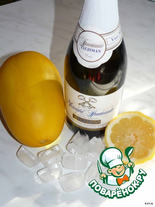 Лeд из дыни и шампанского