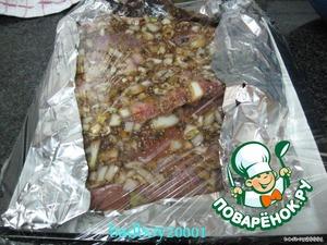 Накрыть пищевой пленкой (или другим способом)   и отправить в холодильник на ночь (минимум на 4 часа)