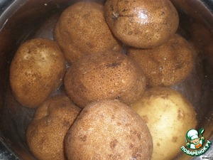 Boil potatoes in their skins.