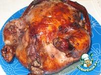 Фаршированная курица в винно-медовом соусе ингредиенты