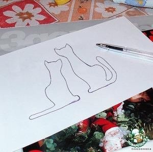 Пока морозится, рисуем эскиз, вырезаем его.