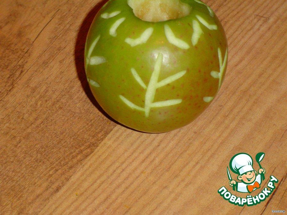Яблочки с корицей, запеченные в слоеном тесте