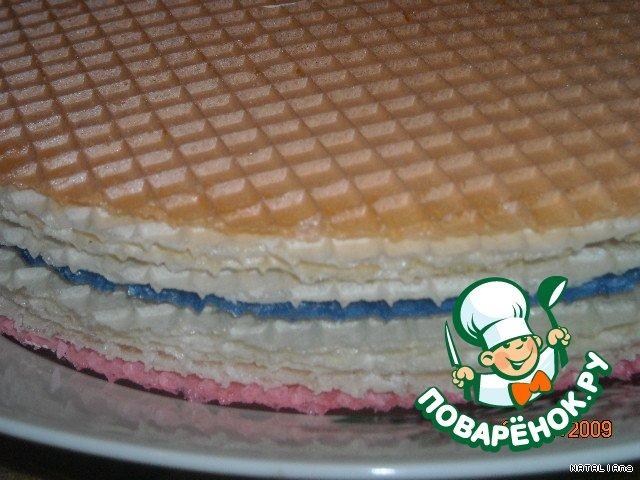 """Вафельный торт """"Дай ещe кусочек"""""""