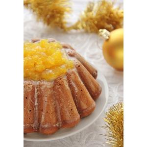 Пряный зимний пирог с апельсиновым желе