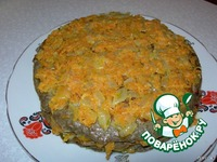 Печеночный торт с морковной начинкой ингредиенты